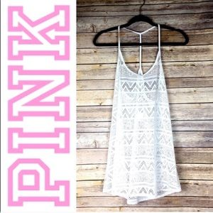 🆕 Victoria's Secret PINK Eyelet Cover Up Dress